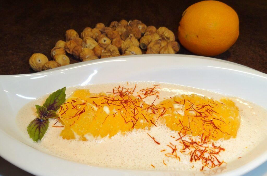 Orangensalat an Feigen-Safran-Sauce